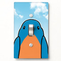 whimsical bluebird light switch cover